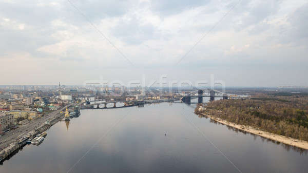 The embankment near the river port, Church of St. Nicholas the Wonderworker in the waters , Havansky Stock photo © artjazz