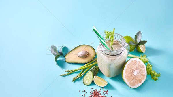 グリーンスムージー オーガニック 野菜 果物 スライス レモン ストックフォト © artjazz