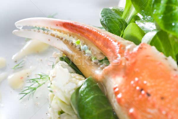 salad with crab Stock photo © artjazz
