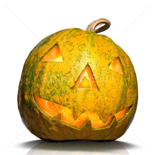 halloween pumpkin isolated on white Stock photo © artjazz