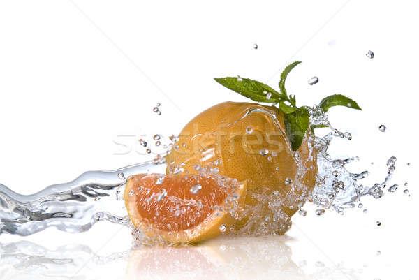 оранжевый мята изолированный всплеск Сток-фото © artjazz