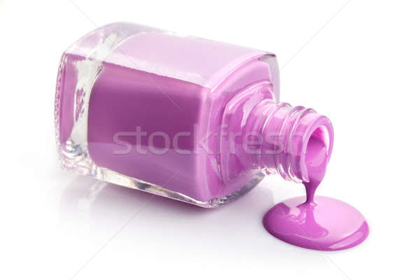 flowing pink nail polish isolated on white Stock photo © artjazz