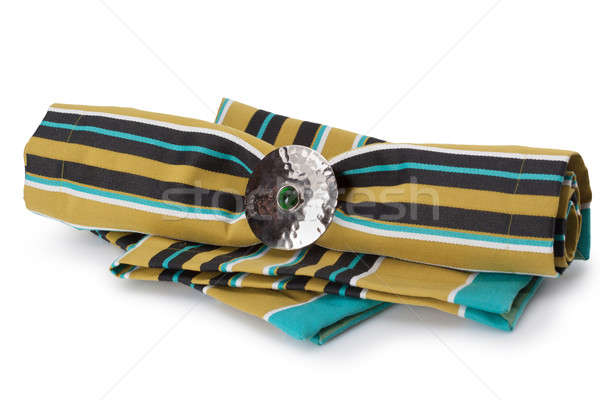 color napkin isolated on white Stock photo © artjazz