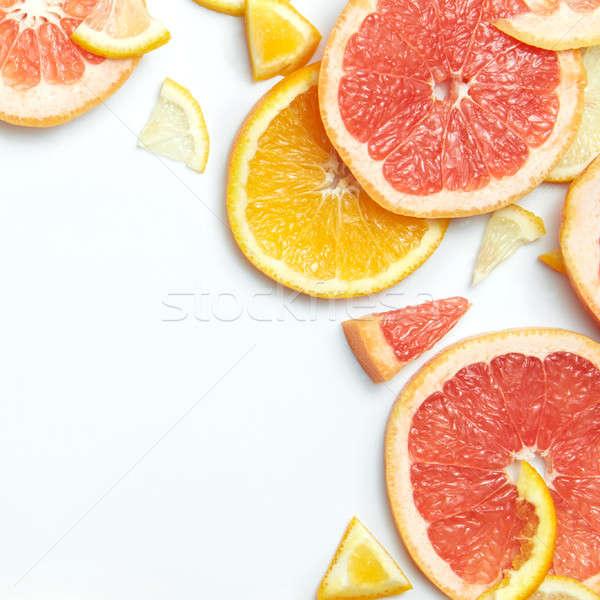 Vers citrus citroen oranje Stockfoto © artjazz