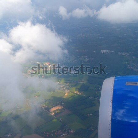 表示 航空機 翼 飛行 飛行機 タービン ストックフォト © artjazz