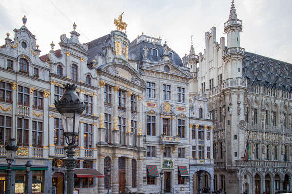 Stock photo: Houses of the famous Grand Place .