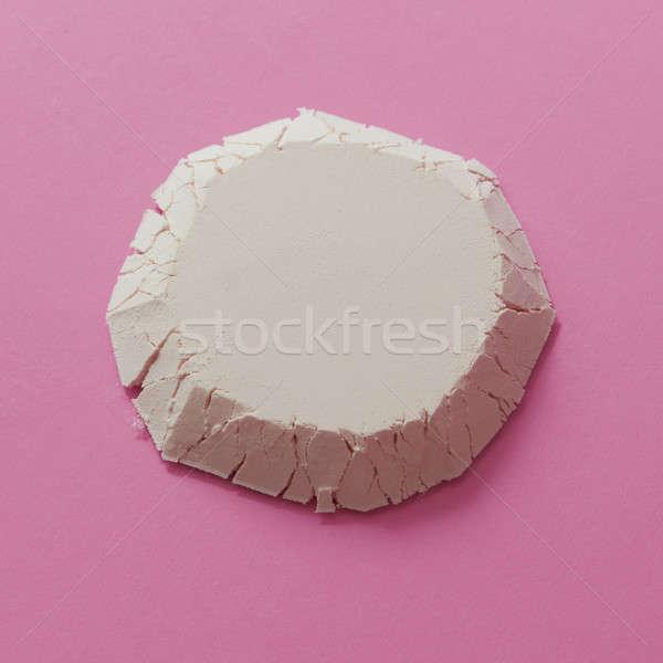 Geométrico figura harina forma círculo aislado Foto stock © artjazz