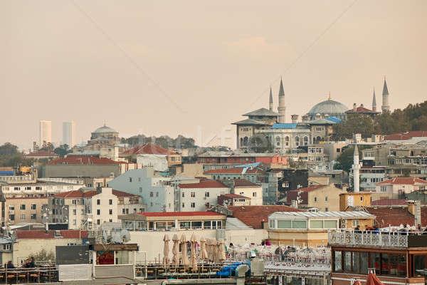 View città Istanbul altezza panoramica moderno Foto d'archivio © artjazz