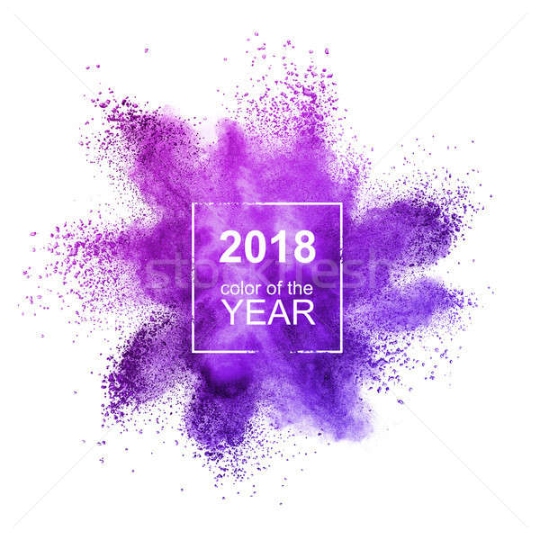 Powder Ultraviolet on a white background. Color of the Year 2018 Pantone Stock photo © artjazz