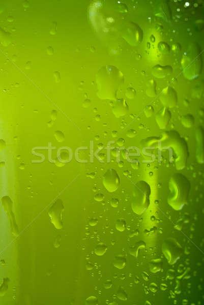 Yeşil su damlası yalıtılmış beyaz su Stok fotoğraf © artjazz