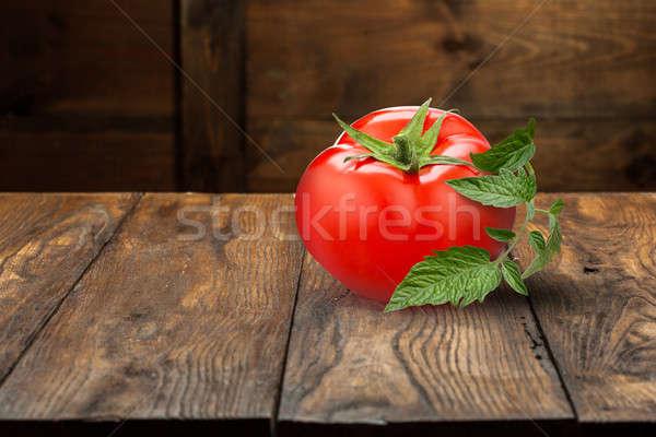 empty old wooden table Stock photo © artjazz
