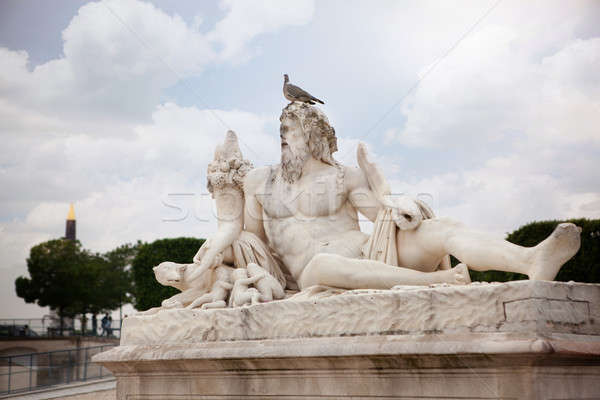 The statue Le Tibre in Tuileries Garden in Paris. Stock photo © artjazz