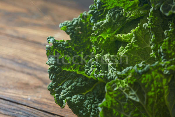 Savoy cabbage super food close up Stock photo © artjazz