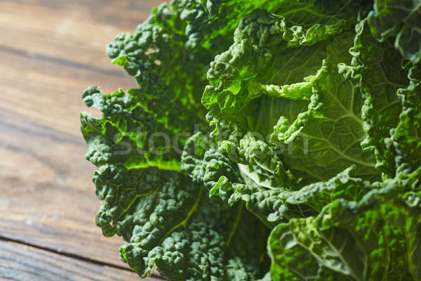 Savoy cabbage super food close up. Stock photo © artjazz
