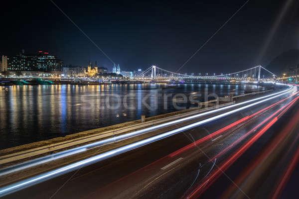 Stunning night cityscape of Budapest Stock photo © artjazz