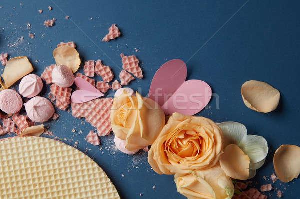 Róż dekoracji wiele serca używany Zdjęcia stock © artjazz