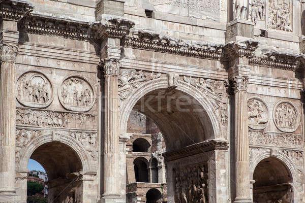 şehir roma gökyüzü duvar sanat Stok fotoğraf © artjazz