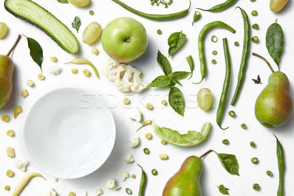 свежие органический зеленый овощей плодов Сток-фото © artjazz