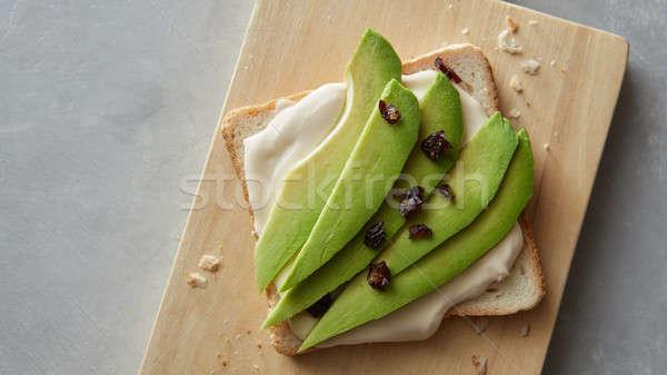 fresh avocado sandwich Stock photo © artjazz