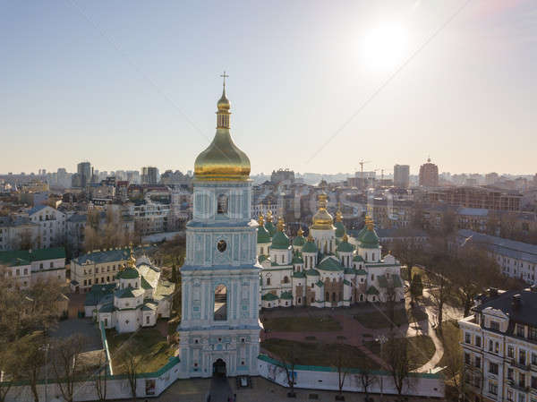 Saint Sophia Cathedral and St. Sophia Square. Kiev, Ukraine Stock photo © artjazz