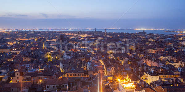 General view of Venice from above at sunset Stock photo © artjazz