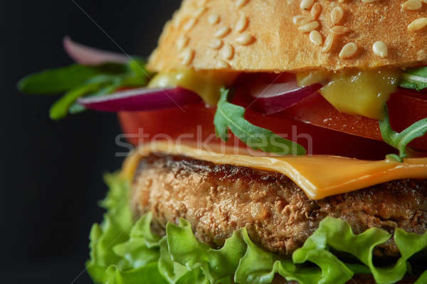 Close-up of home made tasty burger Stock photo © artjazz