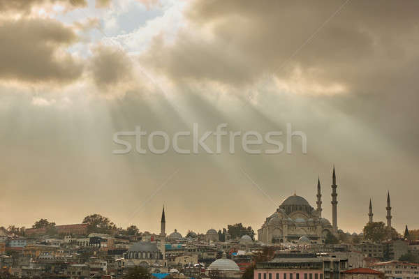 Stock photo: The city of Istanbul, the view of the mosque