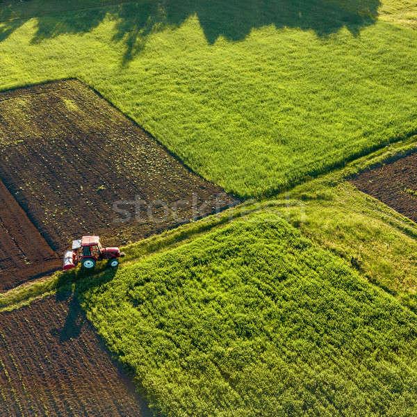 Luchtfoto vogels oog agrarisch velden Stockfoto © artjazz