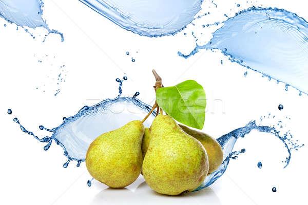 Zoetwater splash peren geïsoleerd witte water Stockfoto © artjazz