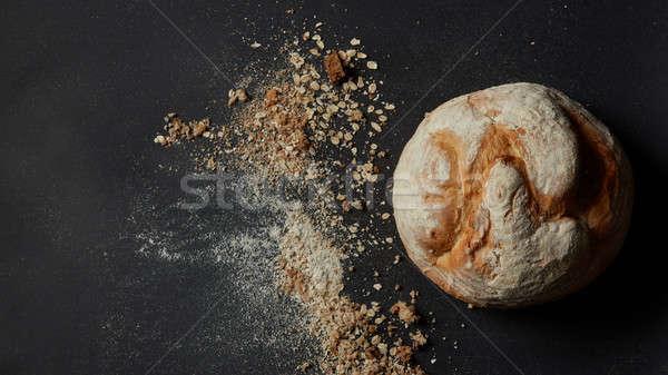 Cannelle rouler chignon sucre poudre isolé Photo stock © artjazz