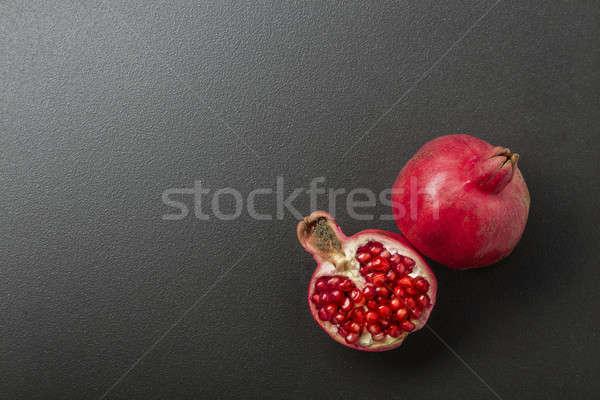 Nar siyah gıda doğa kırmızı tarım Stok fotoğraf © artjazz