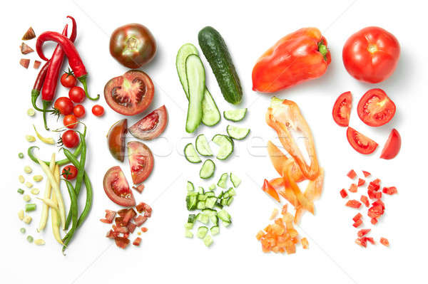 Collection of vegetables isolated on white background Stock photo © artjazz