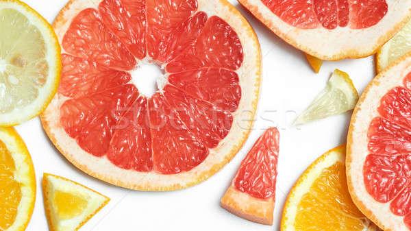 świeże pomarańczowy cytryny grejpfrut Zdjęcia stock © artjazz