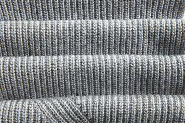 natural warm knitted gray fabric Stock photo © artjazz