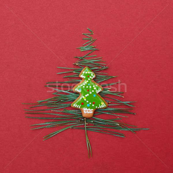 Weihnachtsbaum kiefer nadeln cookies postkarte - Weihnachtsbaum kiefer ...