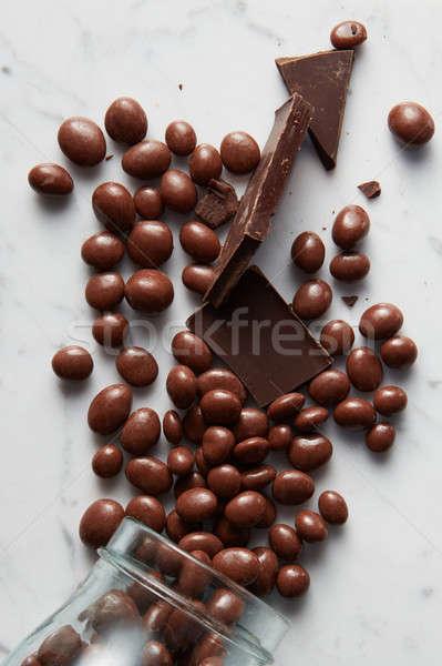 chocolate balls background Stock photo © artjazz