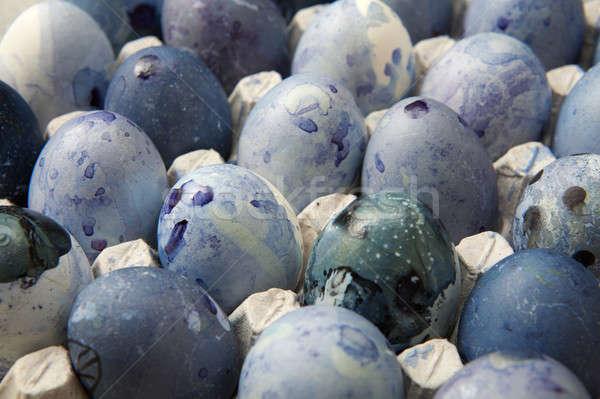 Eggs in paper tray Stock photo © artjazz