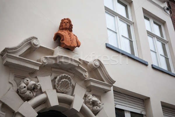 architectural details on the buildings in the city of Bruges Stock photo © artjazz