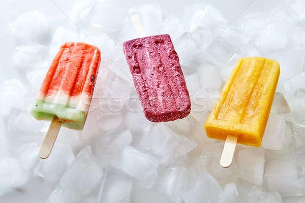 スイカ ベリー 桃 自家製 氷 キャンディー ストックフォト © artjazz