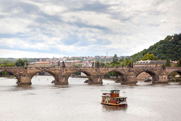 Charles Bridge in Prague Stock photo © artjazz