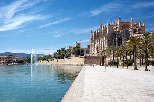 The Cathedral of Santa Maria in Palma de Mallorca Stock photo © artjazz