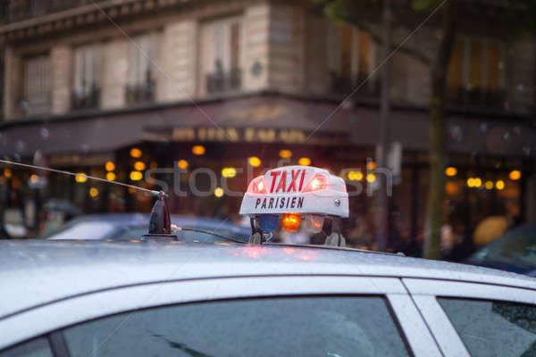 Stock photo: Taxi in Paris