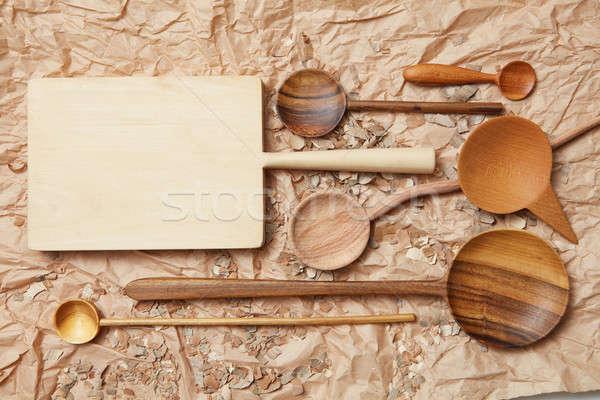 Legno utensile da cucina cottura carta cucina vita Foto d'archivio © artjazz