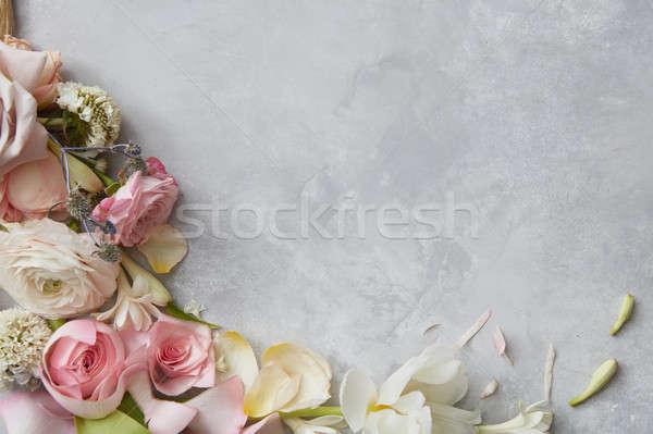 Frame of flowers Stock photo © artjazz