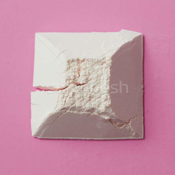 Harina geométrico figura primer plano rosa fondo Foto stock © artjazz