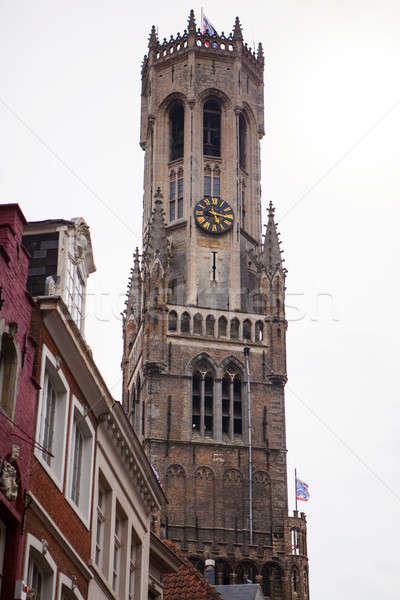 Belfry of Bruges in Belgium Stock photo © artjazz