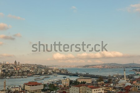 Nice aerial view of the city of Istanbul,Turkey Stock photo © artjazz
