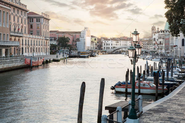 Famous Grand Canal at sunset Stock photo © artjazz