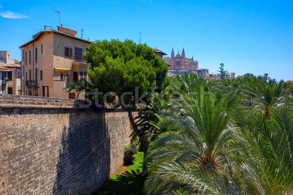 Widoku mallorca miasta Hiszpania piękna starych Zdjęcia stock © artjazz
