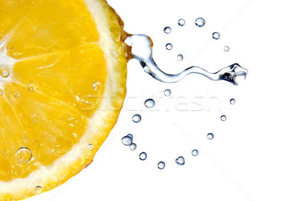 lemon with water drops Stock photo © artjazz